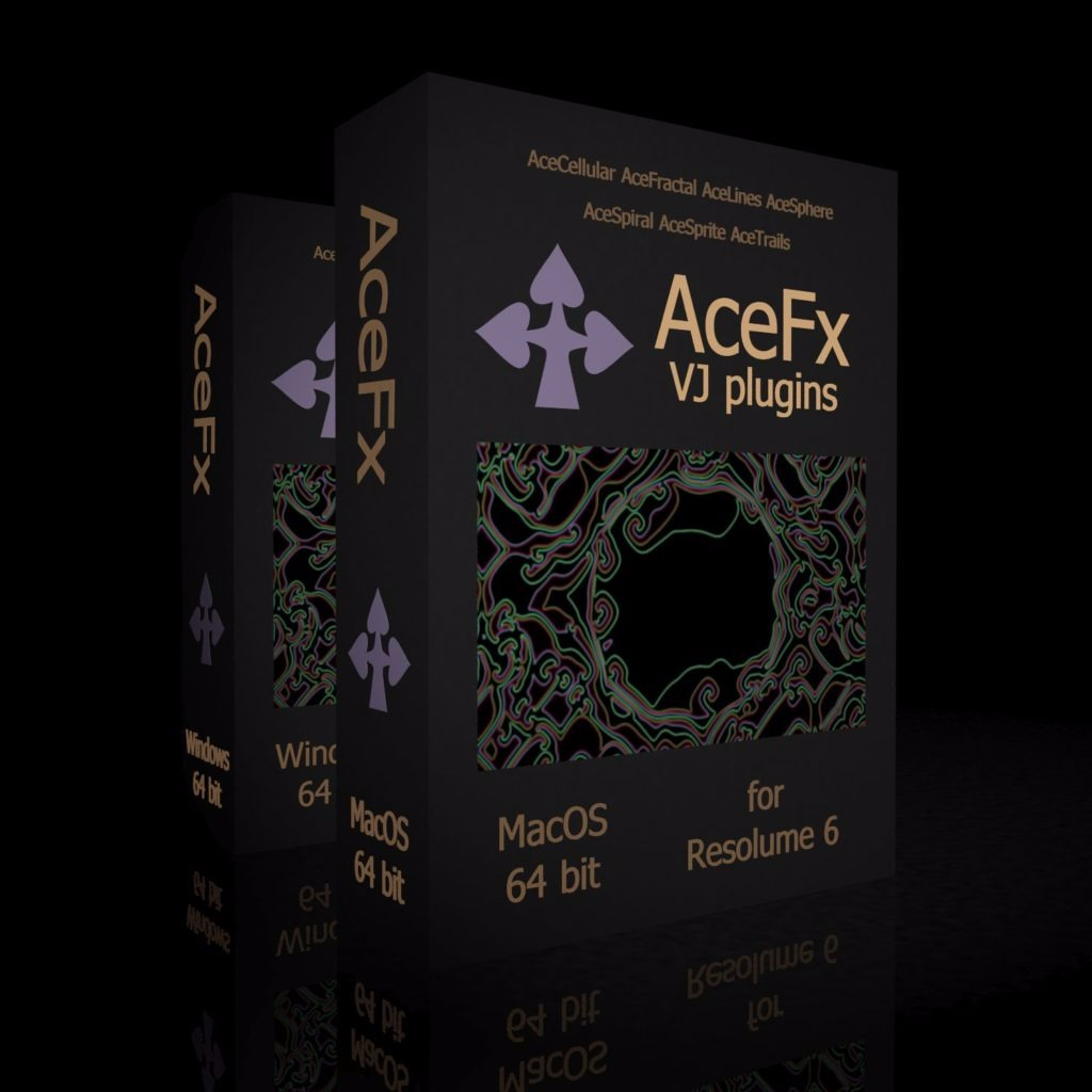 AceFX 64 bit VJ plugins for MacOS