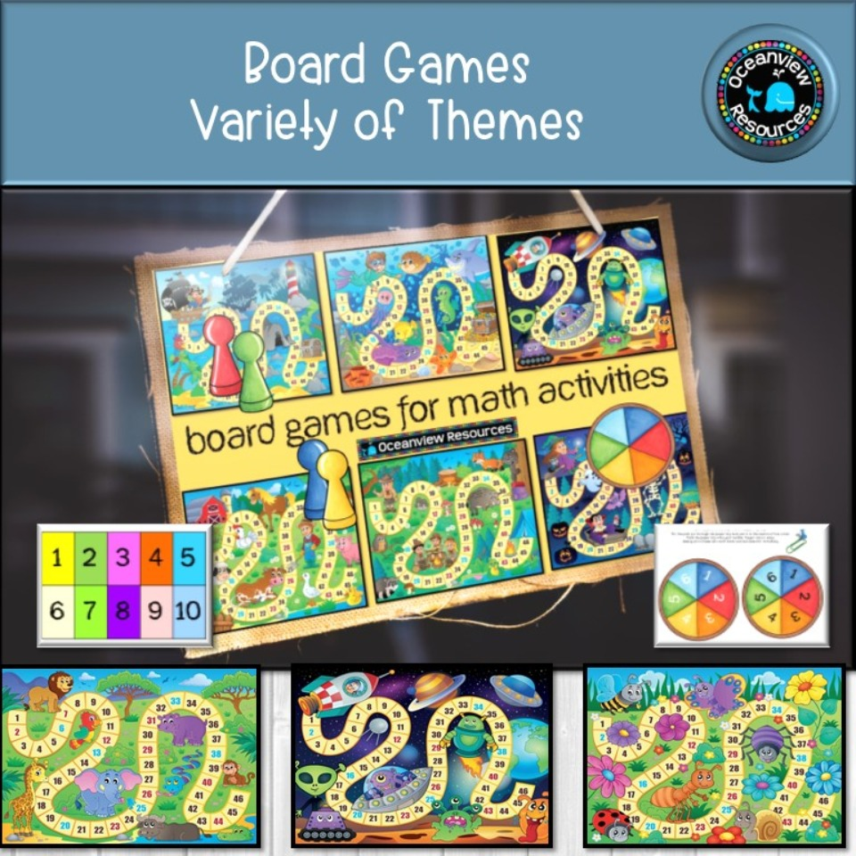 Board games for Math Activities