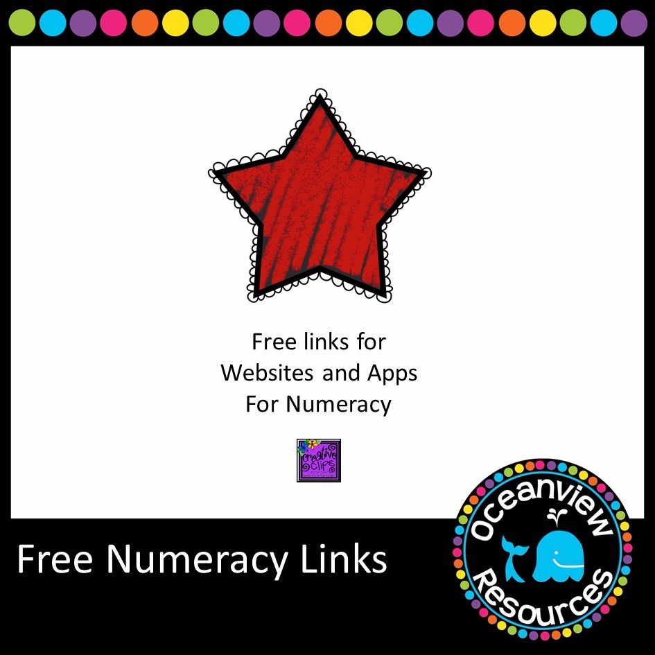 FREE.  Booklet of great websites and apps for numeracy