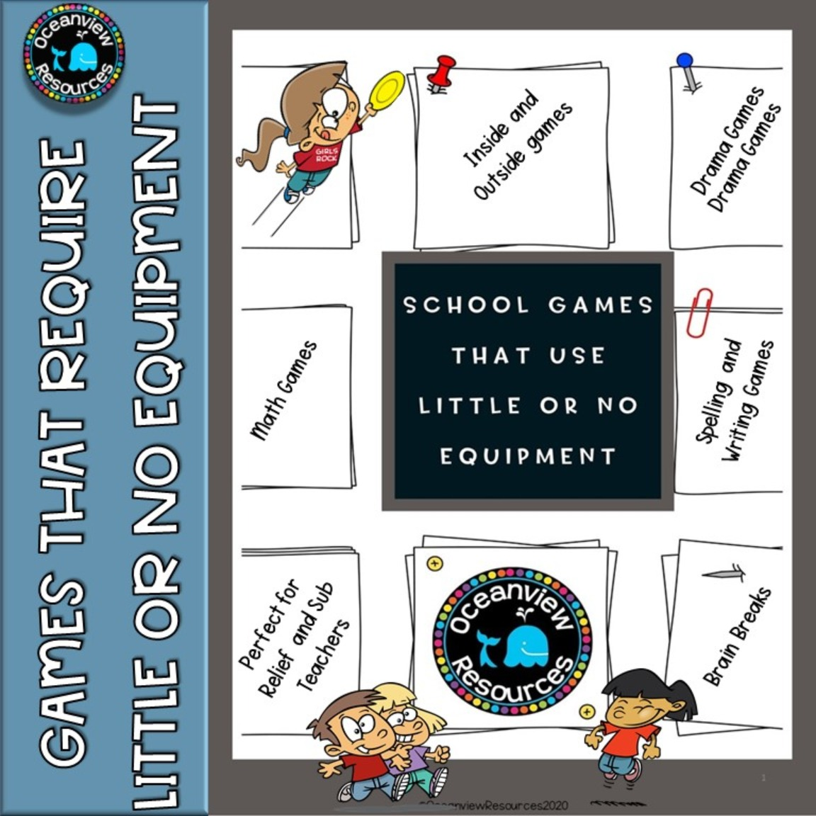 Fun games that need little or no equipment - Ideal for Relief and Sub teachers.