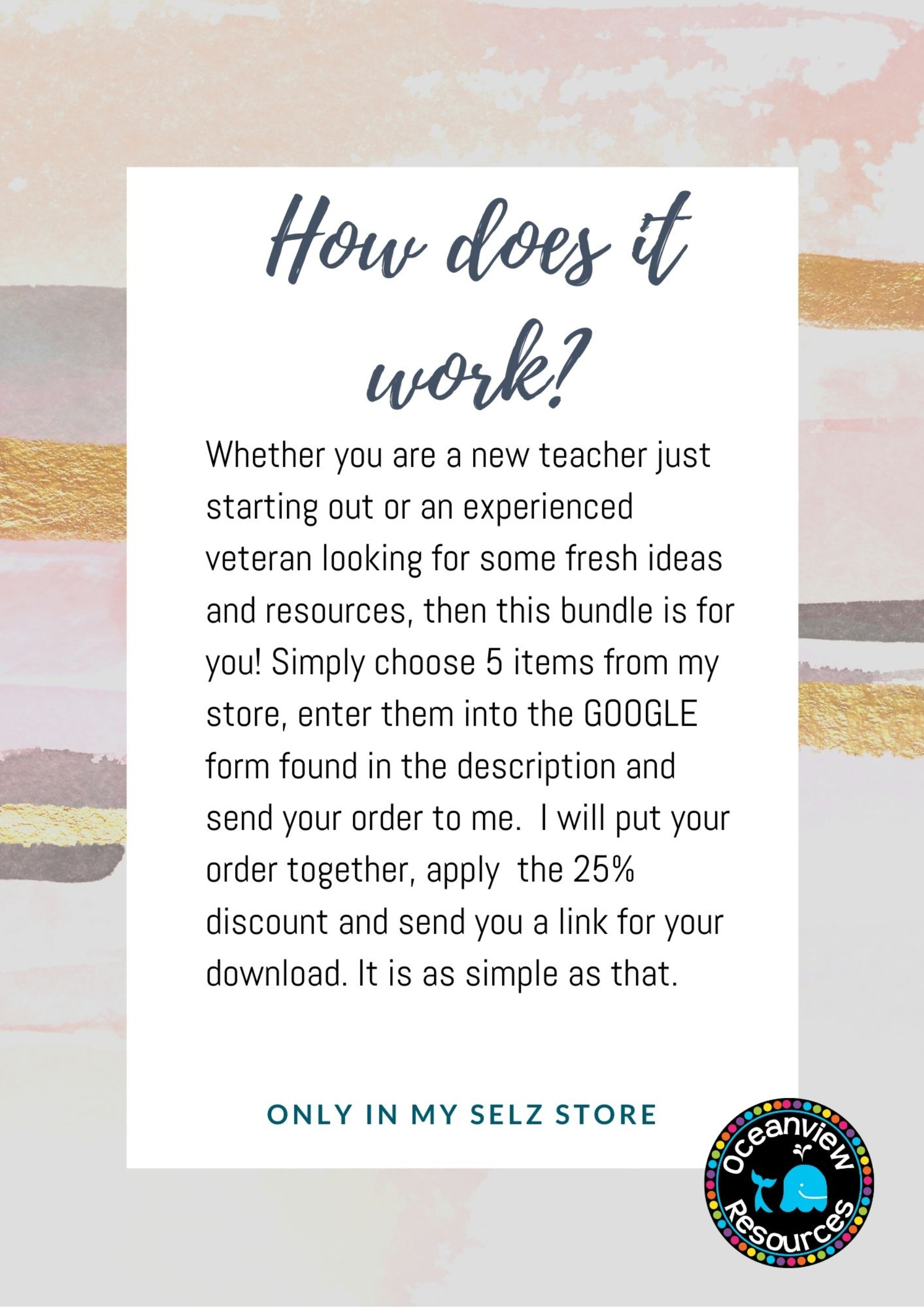 CREATE YOUR OWN BUNDLE-5 Resources