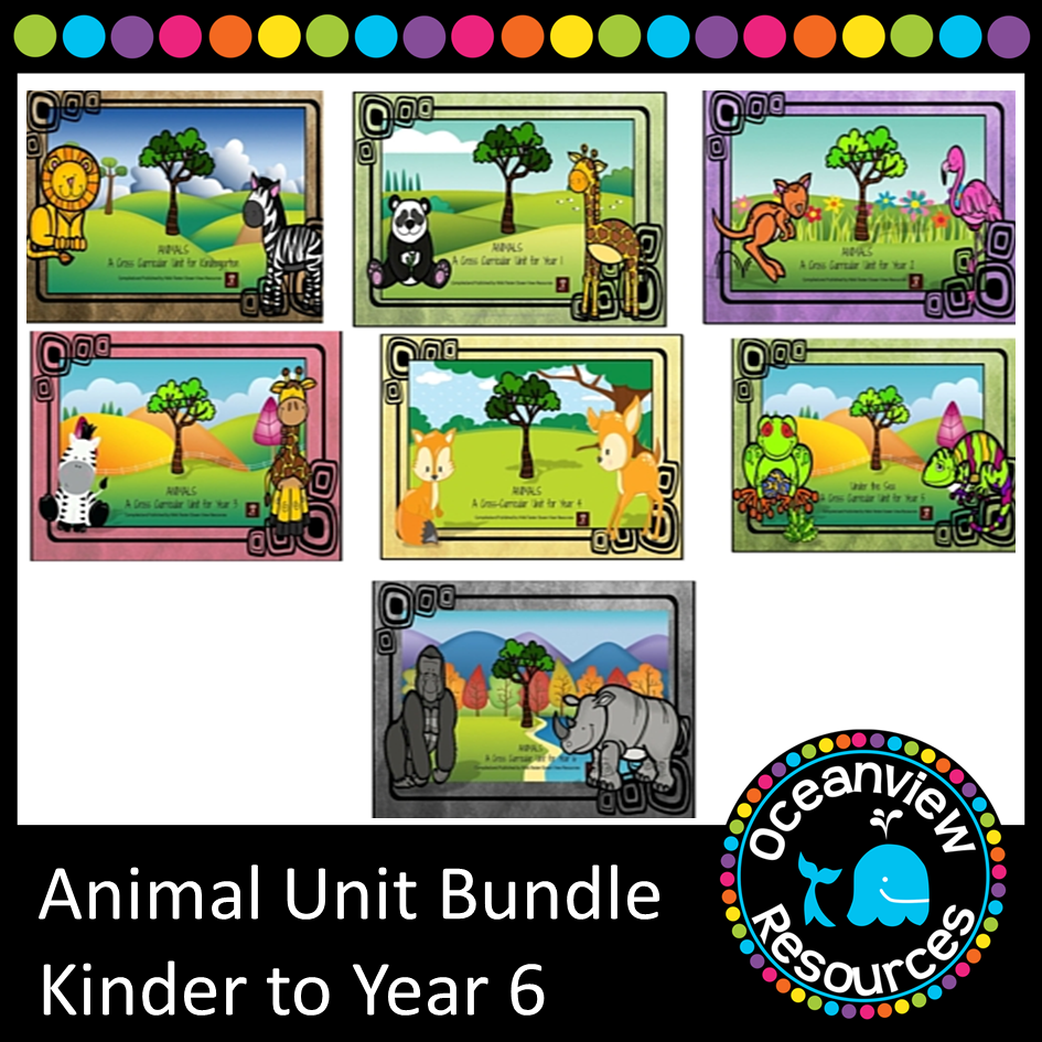 K-6 Animal Themed Bundle