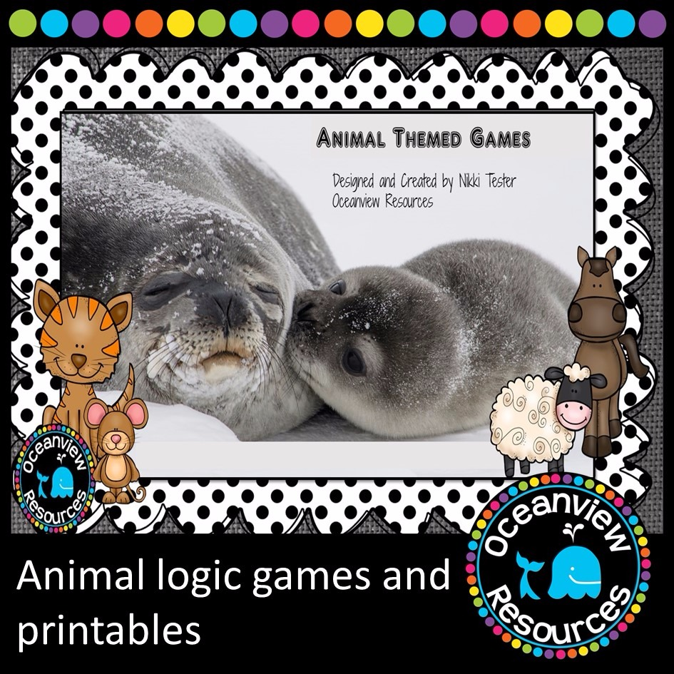 Animal Themed Logic Games 150 page pack! #AUSTEACHERBFR