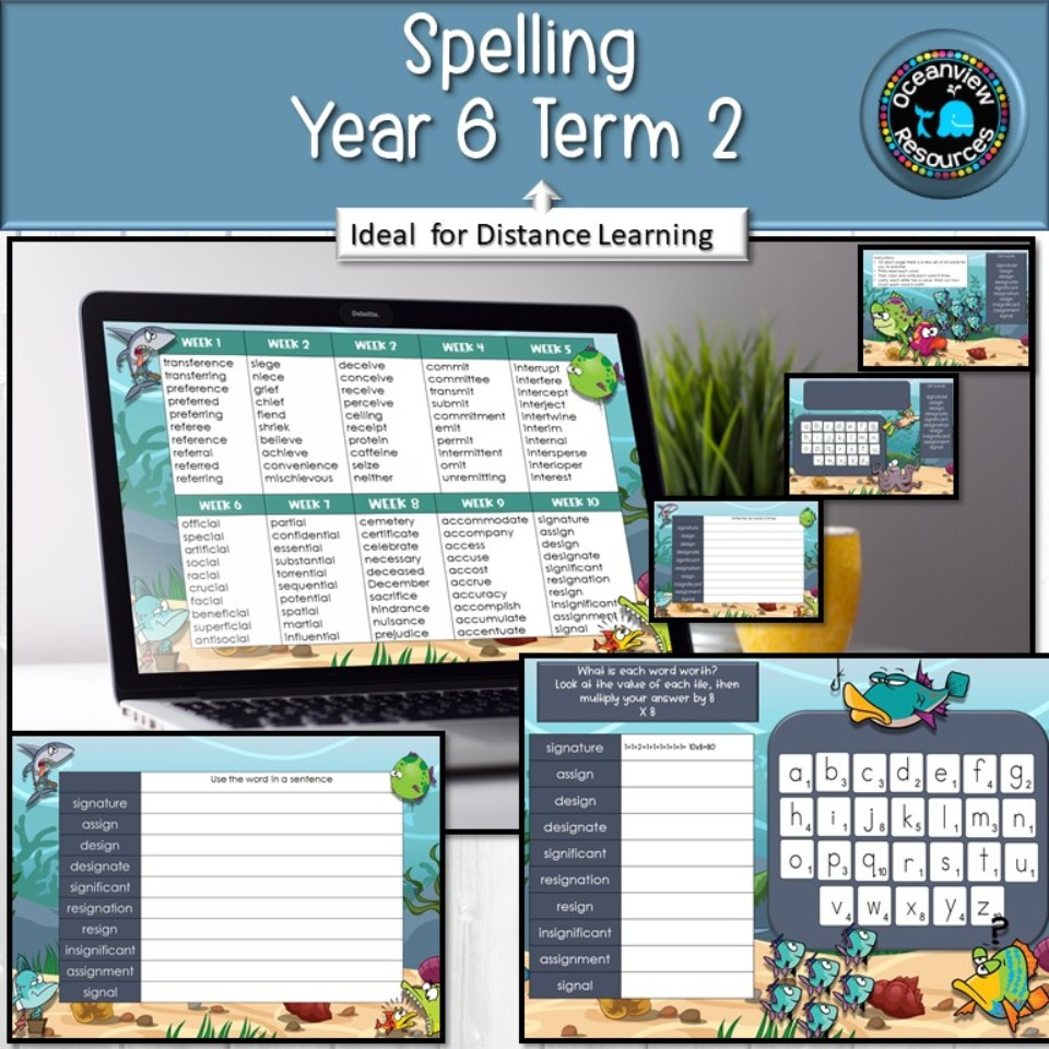 Year 6 Term 2 Spelling- Suitable for Distance Learning