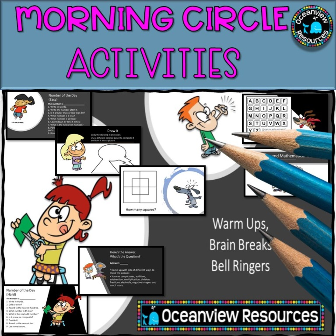 Warm ups, Brain Breaks or Bell ringing activities