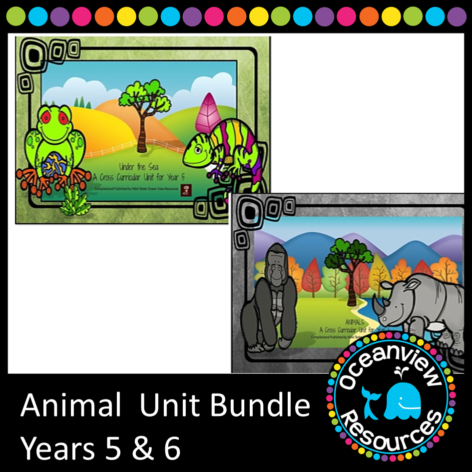 Animal Themed Bundle Years 5 and 6