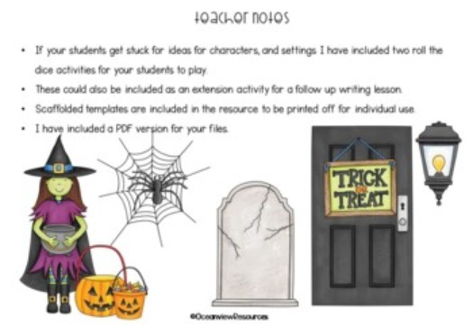 Halloween Writing with Video Stimulus