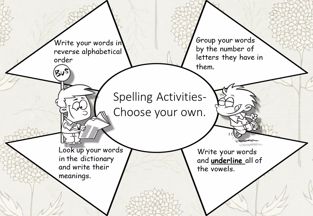 Choose your own Spelling Activity