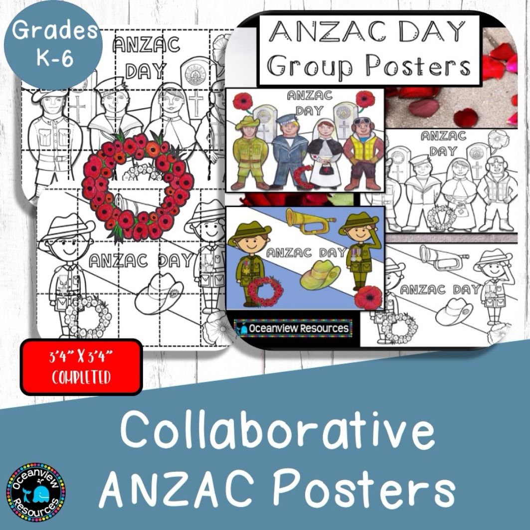 ANZAC Unit for K-6 and Collaborative Posters