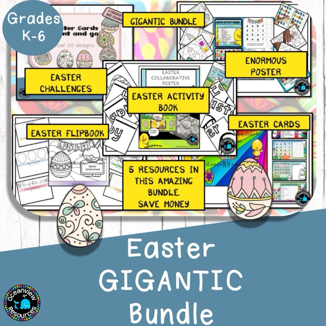 Gigantic Easter Bundle- 5 resources in one