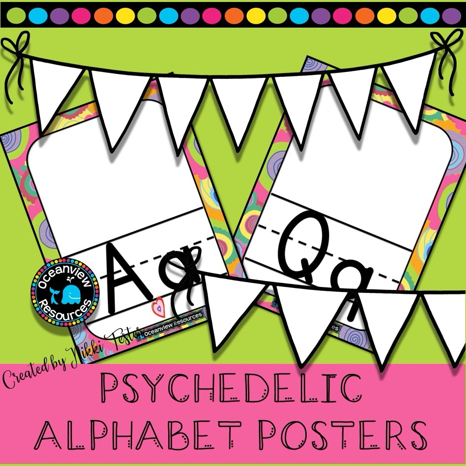Alphabet Posters -Sixties Psychedelic Design!