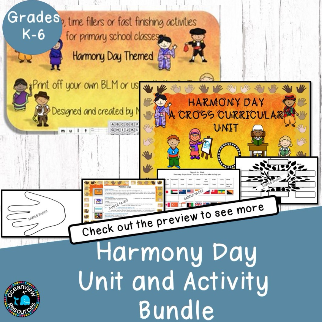 Harmony Day Bundle of Resources