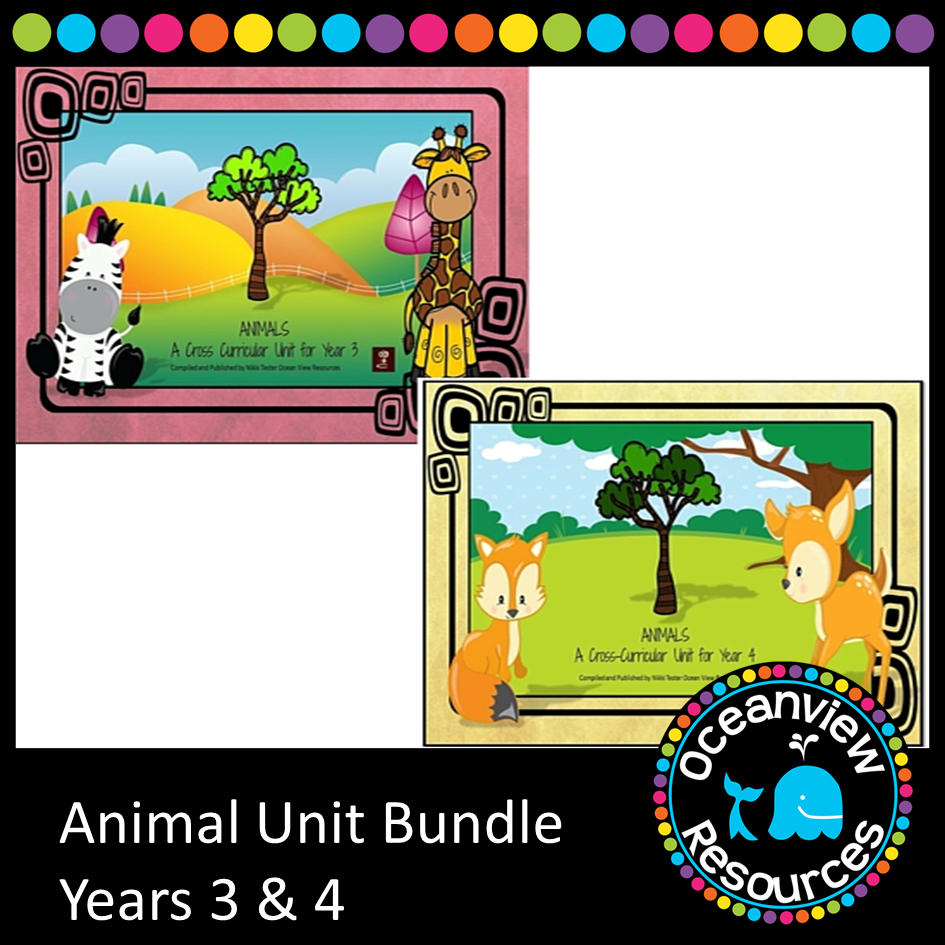 Animal Themed Bundle Years 3 and 4