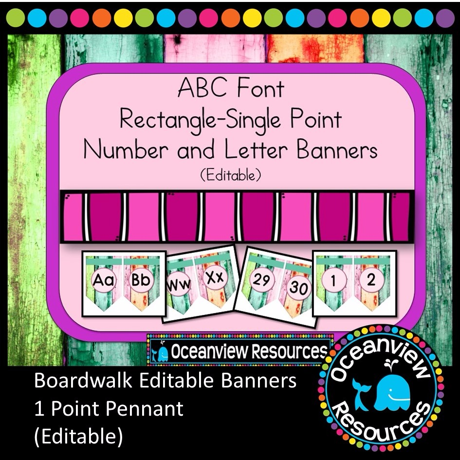 Boardwalk Bunting Single point, rectangle shape - BOARDWALK theme
