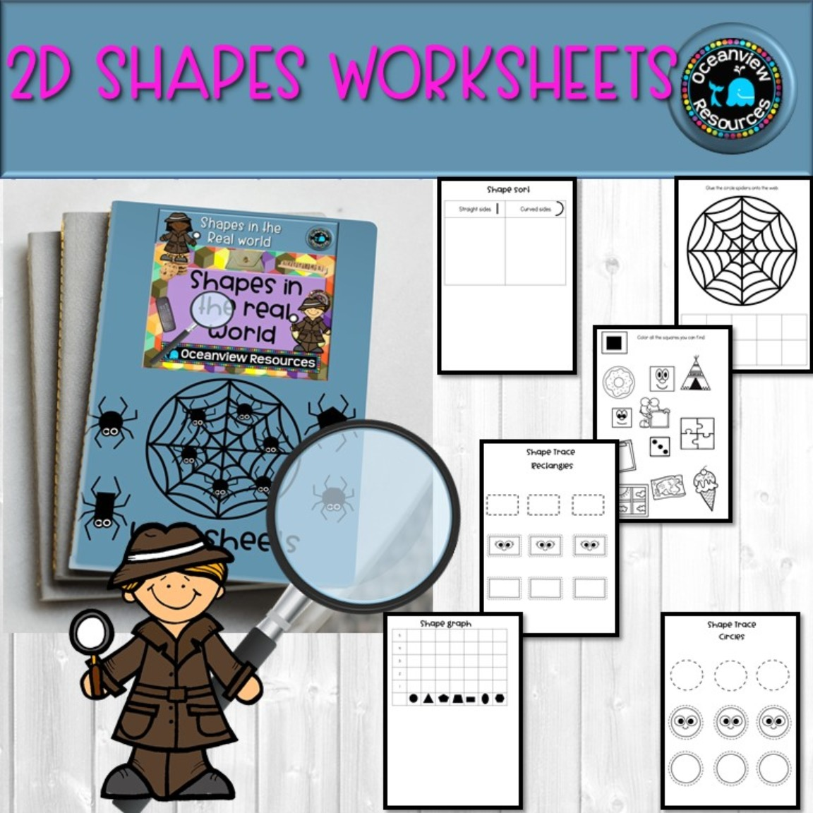 2D worksheets - UK and AUS/UK spelling PDF and POWERPOINT version