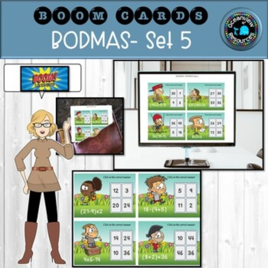 BOOM CARDS-Order of Operations Set 5