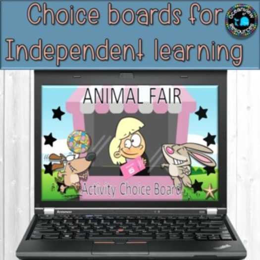 Choice board - ideal for Distance Learning