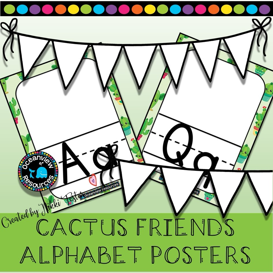 Alphabet Posters - - CACTUS FRIENDS