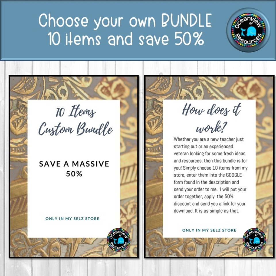 CREATE YOUR OWN BUNDLE-10 Resources