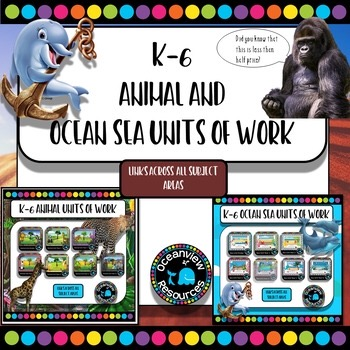 Animal and Sea themed K-Year 6 bundle.