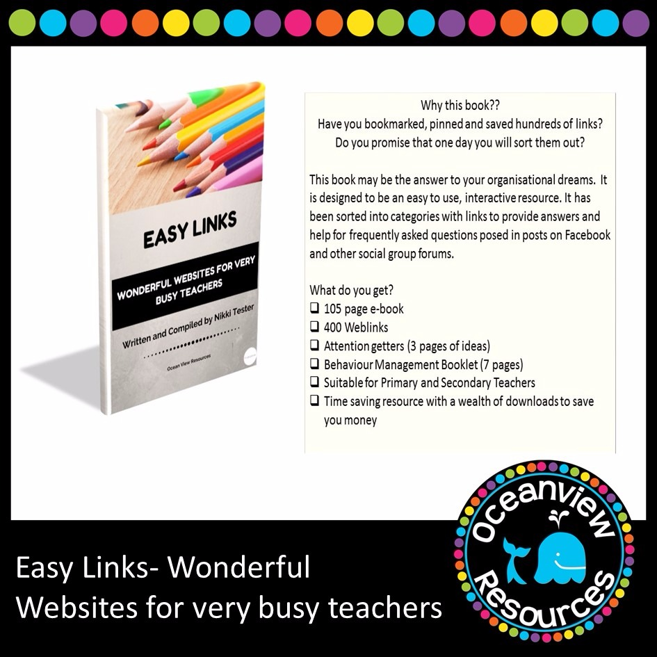 Easy Links -Wonderful Websites for very busy Teachers