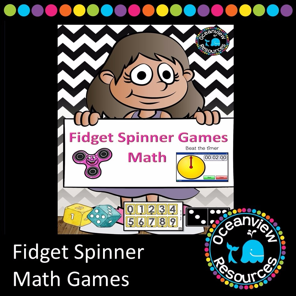 Fidget Spinner and Stopwatch timed Math Activities
