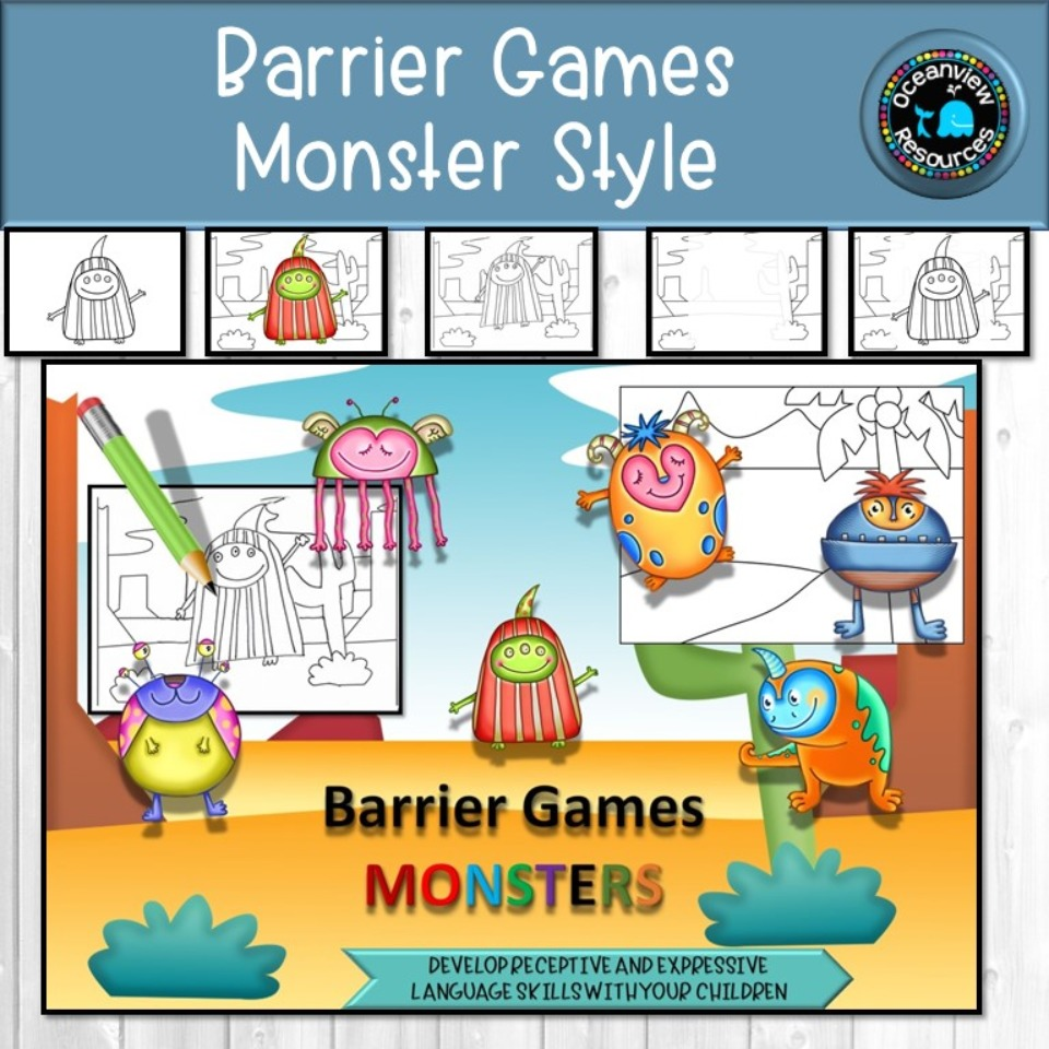 Barrier Game- MONSTER THEME