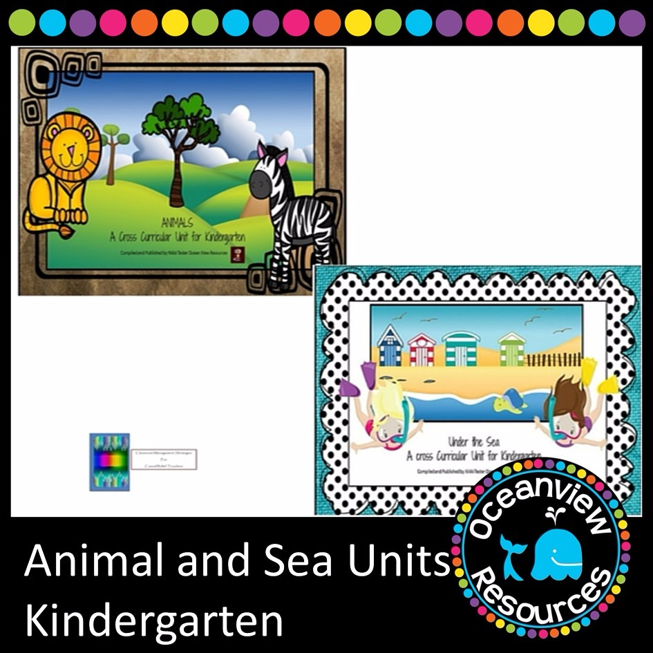 Animal and Sea Themed Bundle Kindergarten