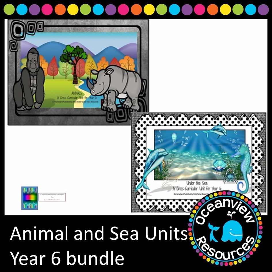 Animal and Sea Themed Bundle year 6