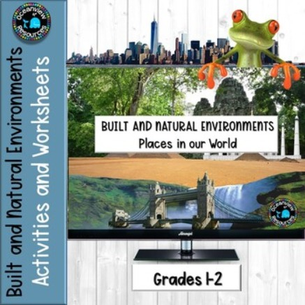Built and Natural Environments- Activity packet ideal for Distance Learning