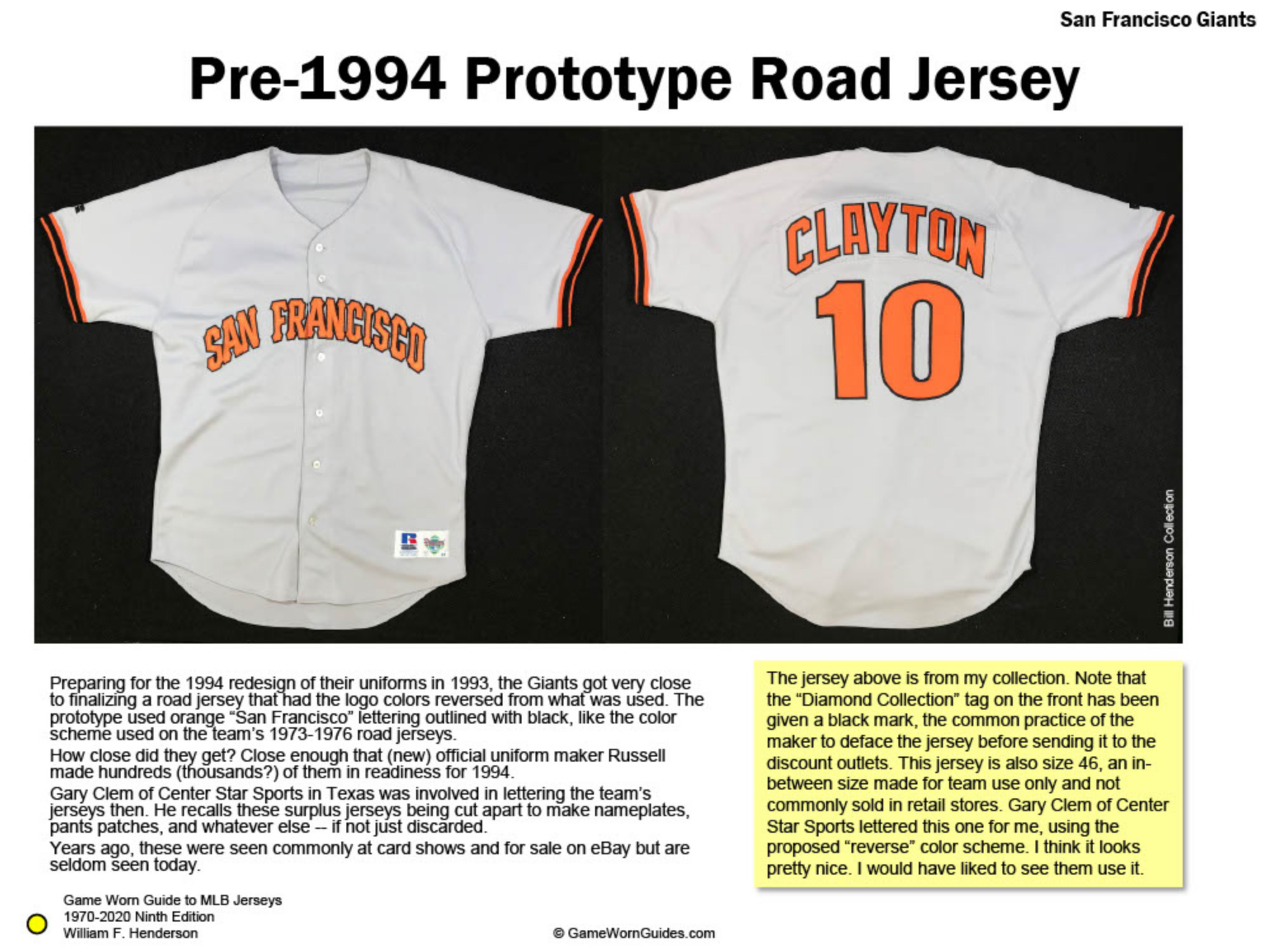 Game Worn Guide to San Francisco Giants Jerseys (1970-2020)