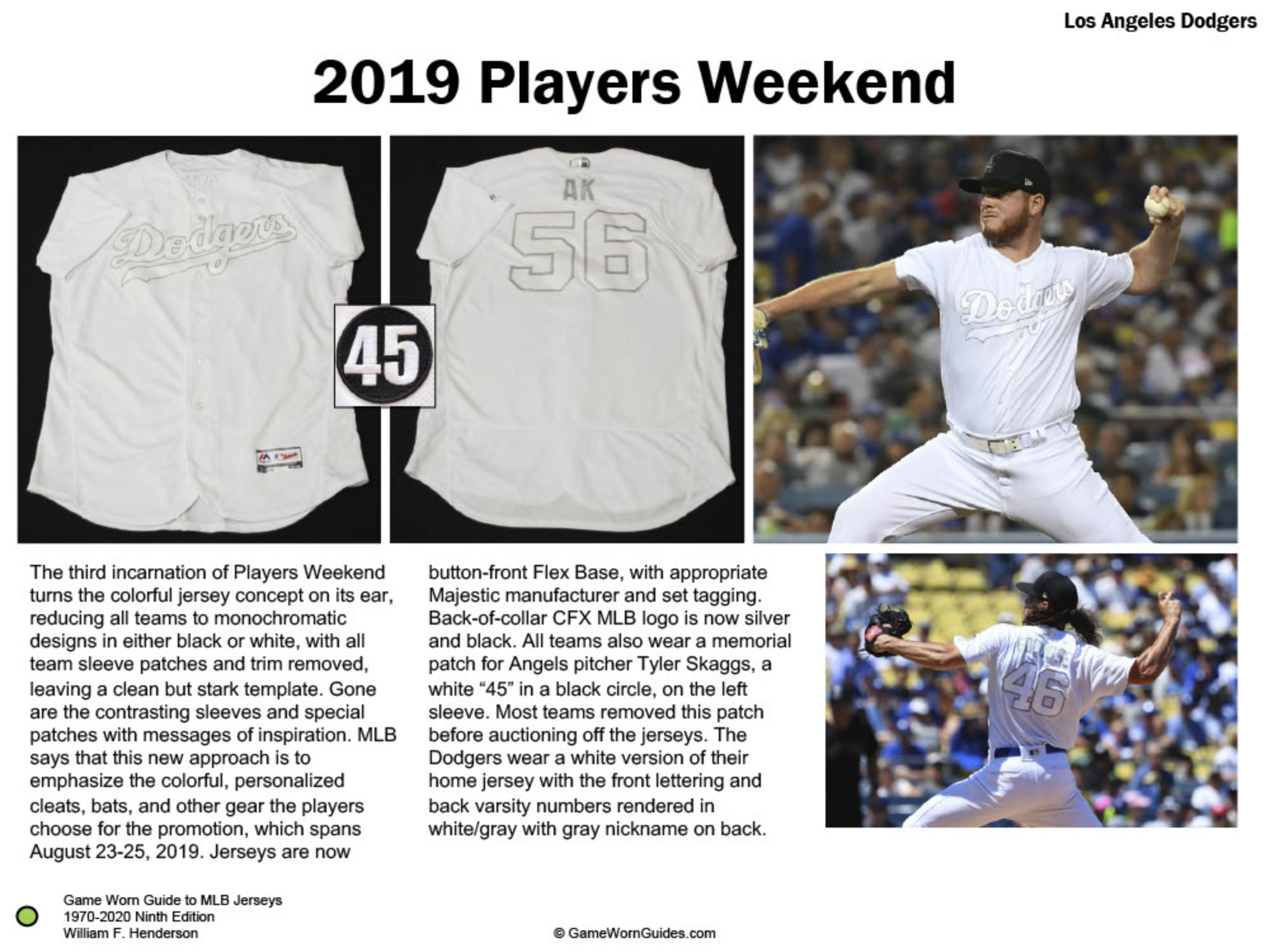 Game Worn Guide to Los Angeles Dodgers Jerseys (1970-2020)