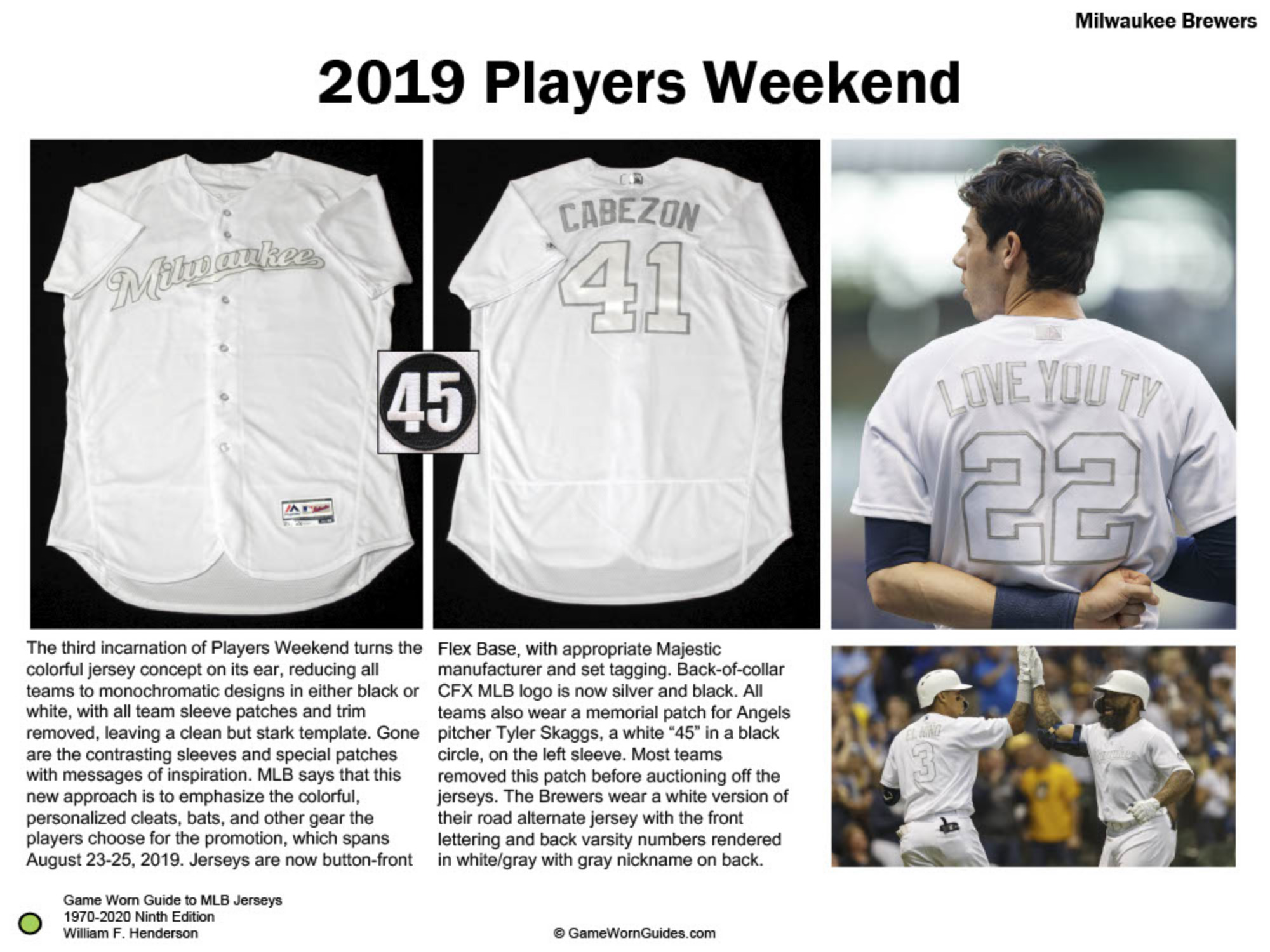 Game Worn Guide to Milwaukee Brewers Jerseys (1970-2020)