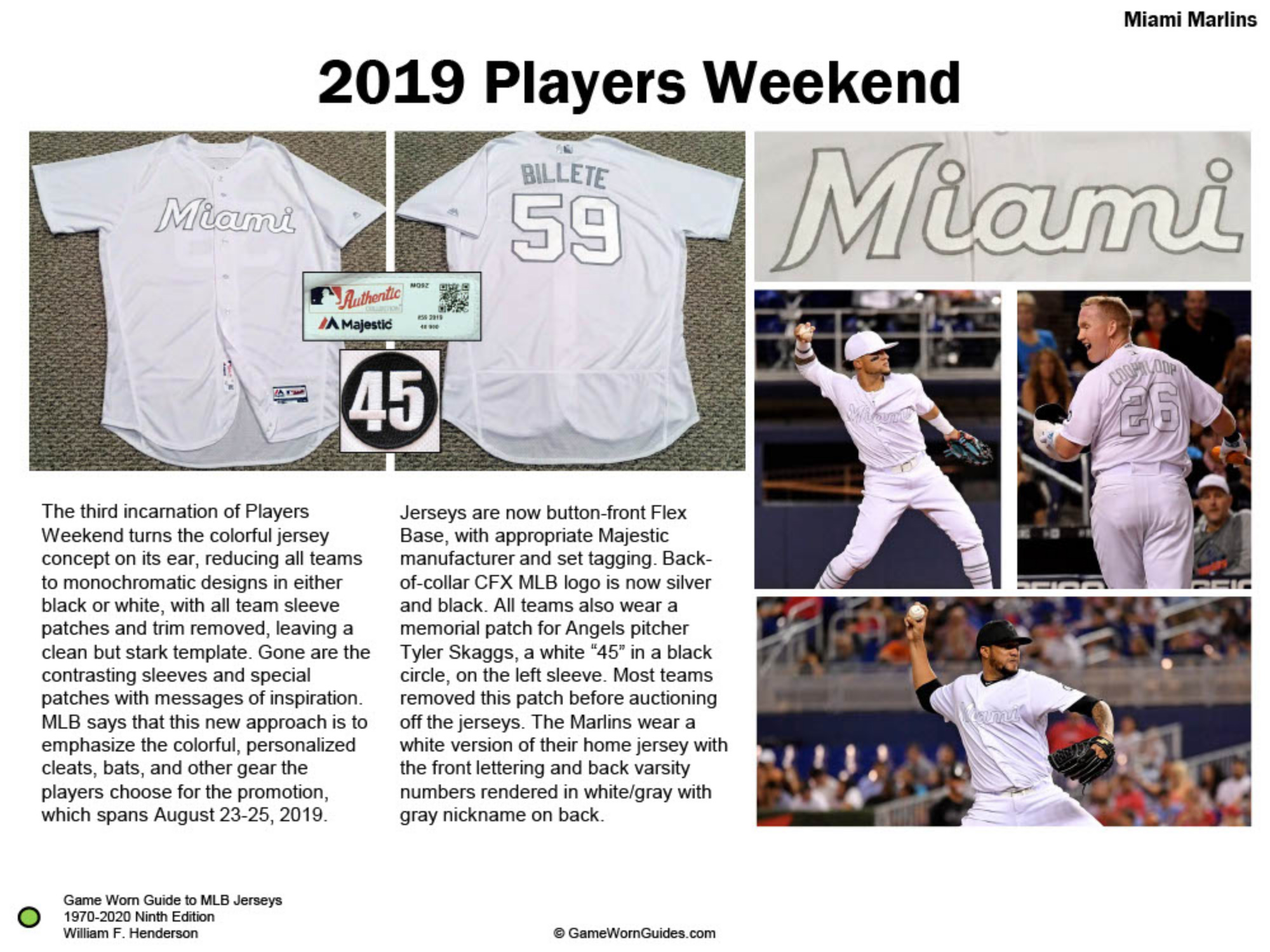 Game Worn Guide to Florida/Miami Marlins Jerseys (1993-2020)