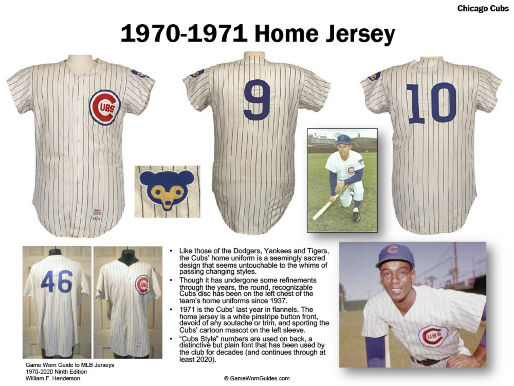 Game Worn Guide to Chicago Cubs Jerseys (1970-2020)