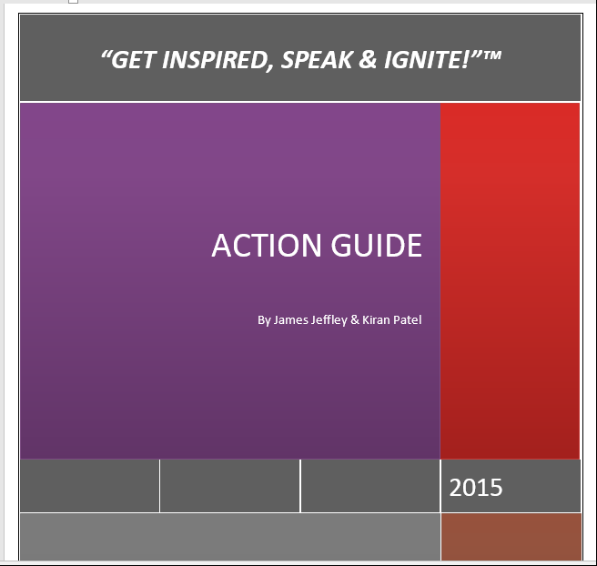 """""""Get Inspired, Speak and Deliver!"""" Action Guide"""