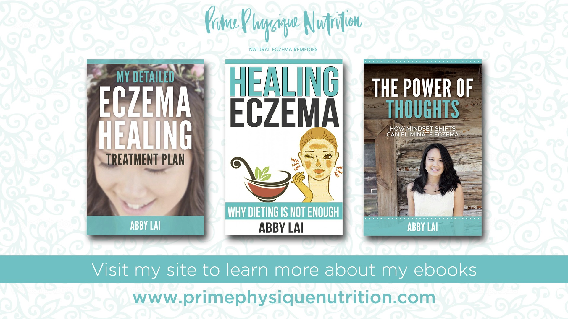 "3 eBook Bundle Purchase: ""Healing Eczema,"" ""My Healing Treatment Plan"" & ""Power of Thoughts"" Books"