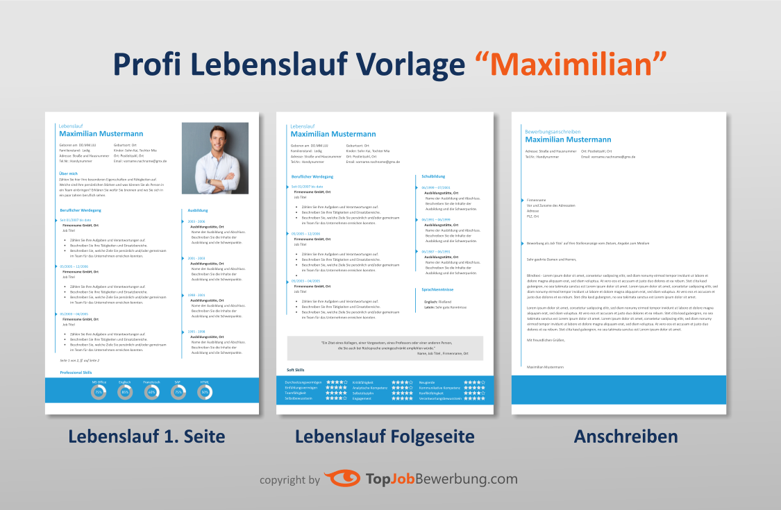 Download: Lebenslauf Vorlage