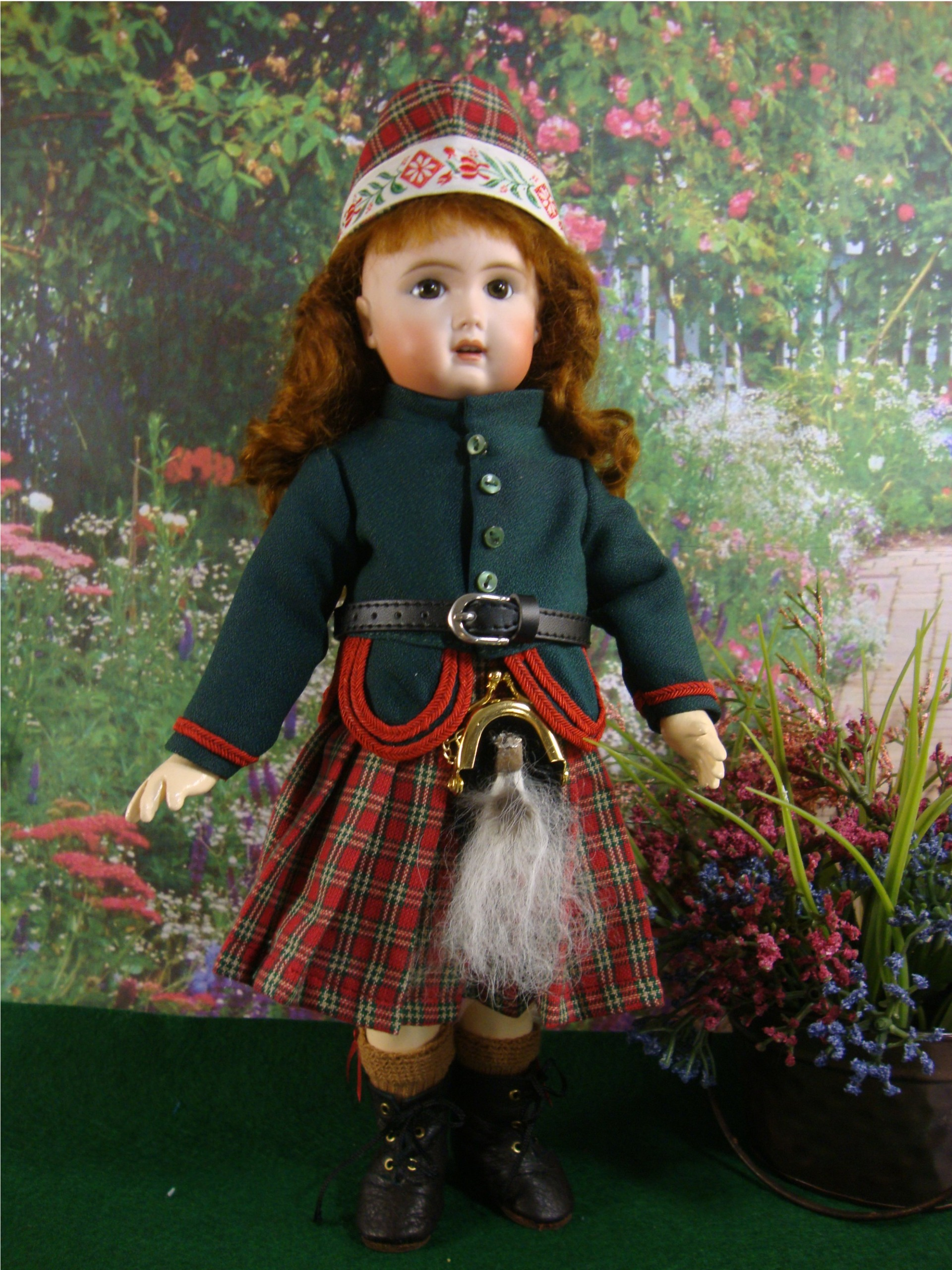 Bleuette Pattern Scottish Outfit