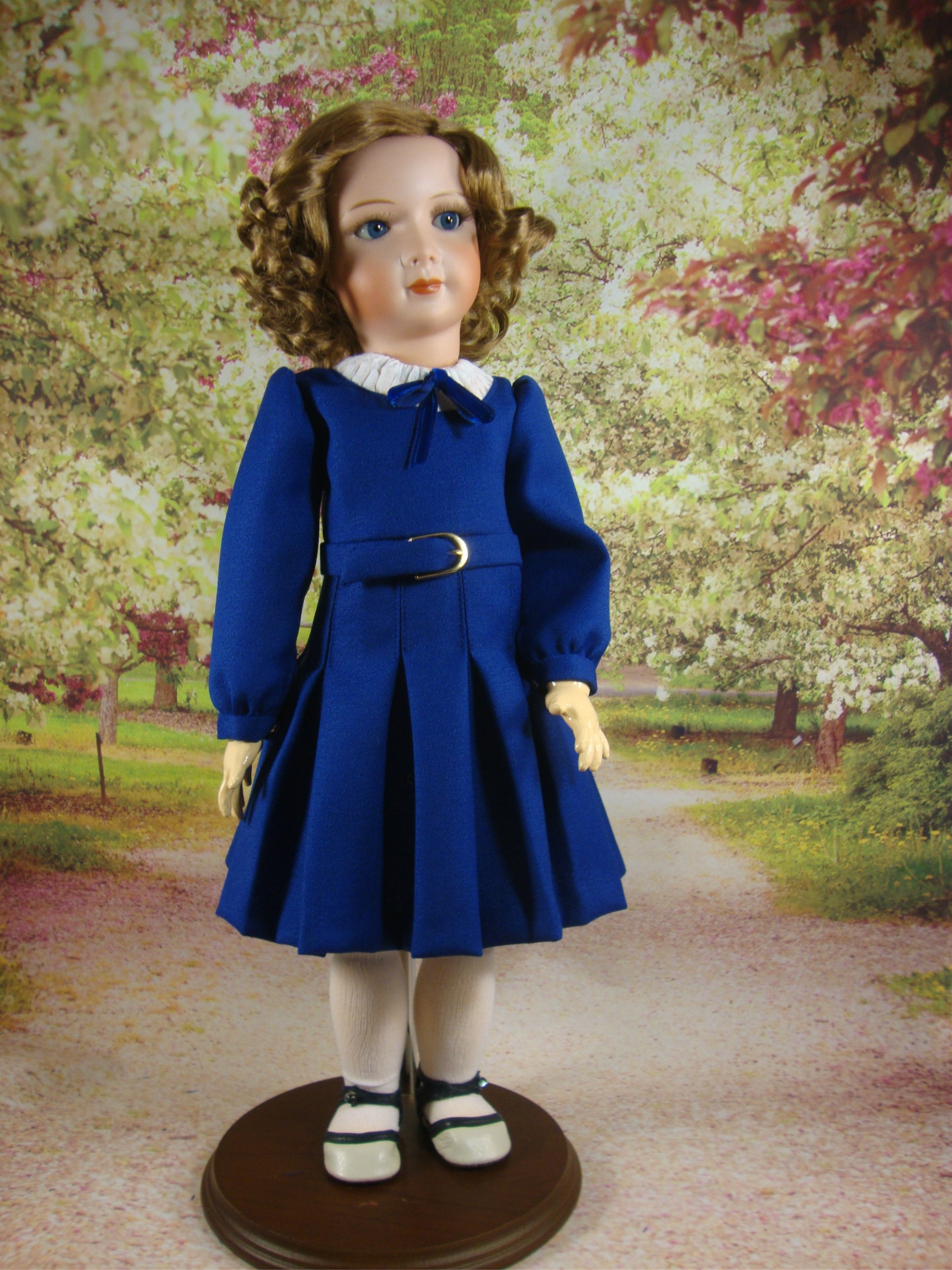 Princess Pattern Blue School Dress