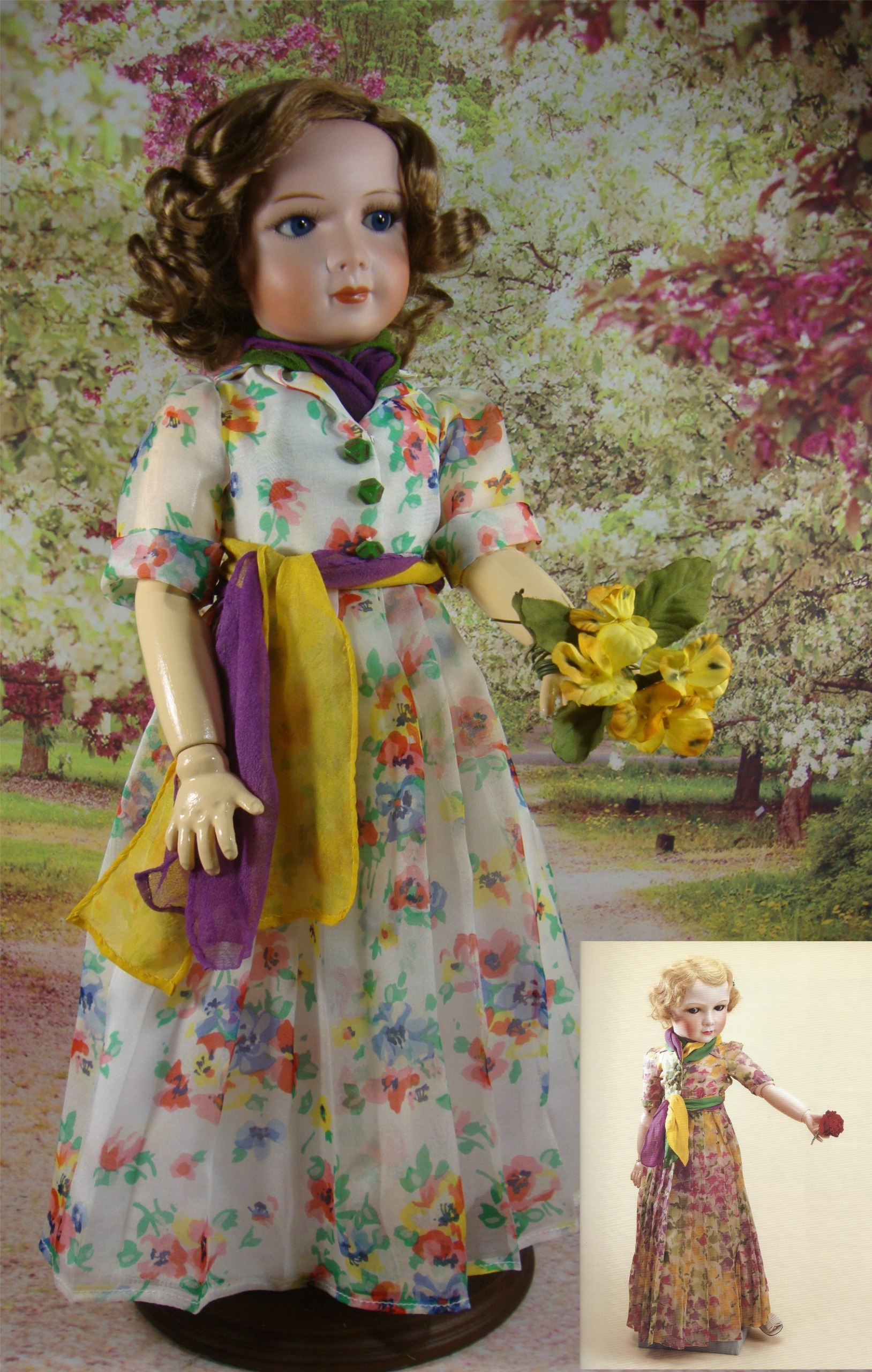 Princess Floral Chiffon Dress Pattern