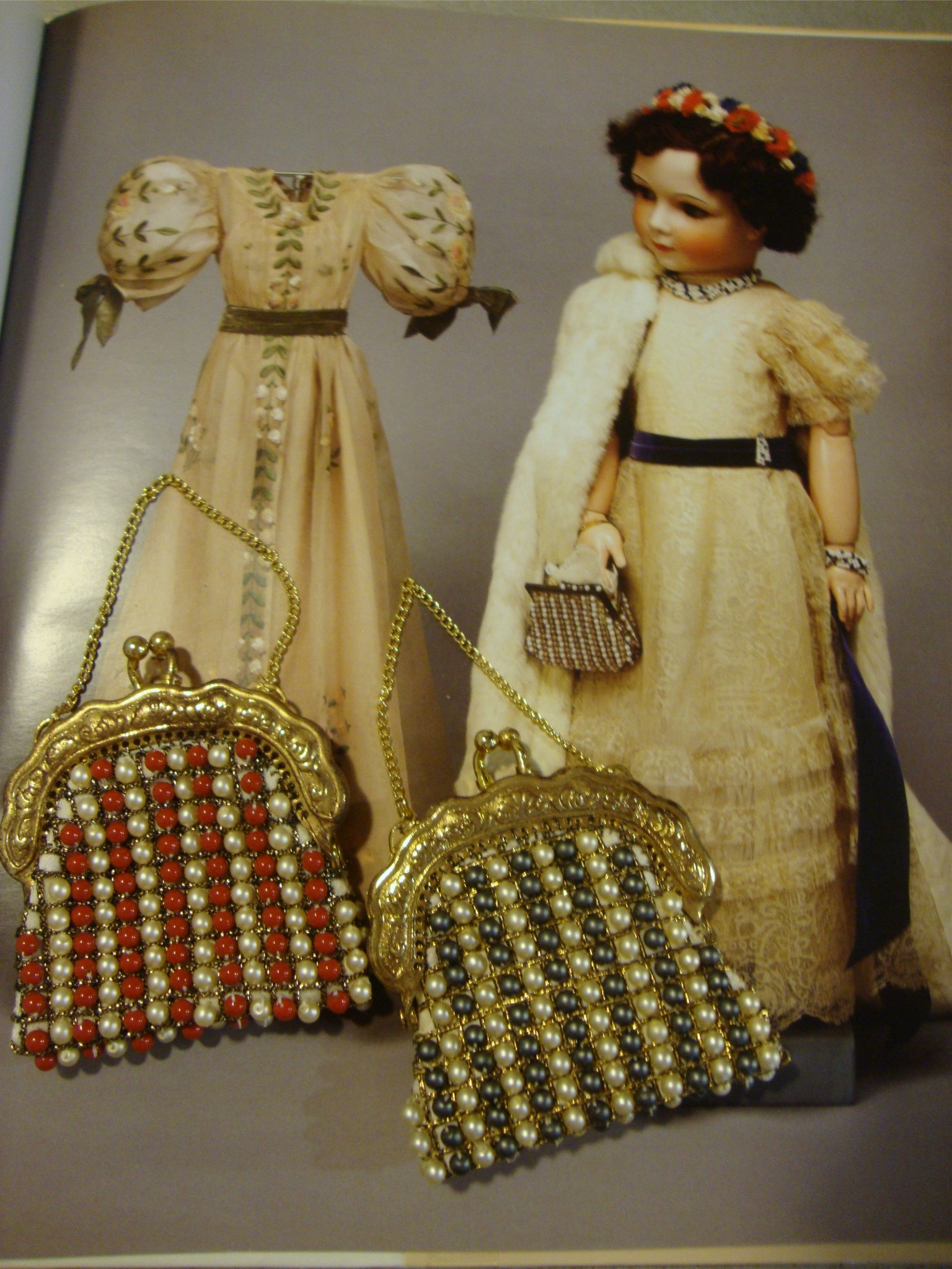 Beaded Purse Kit for Princess - Gray and White