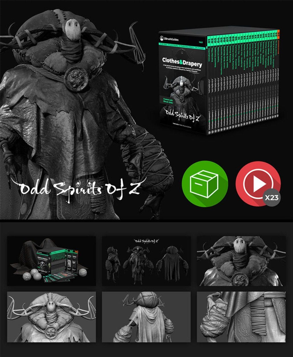 ZBrush Clothes and Drapery course