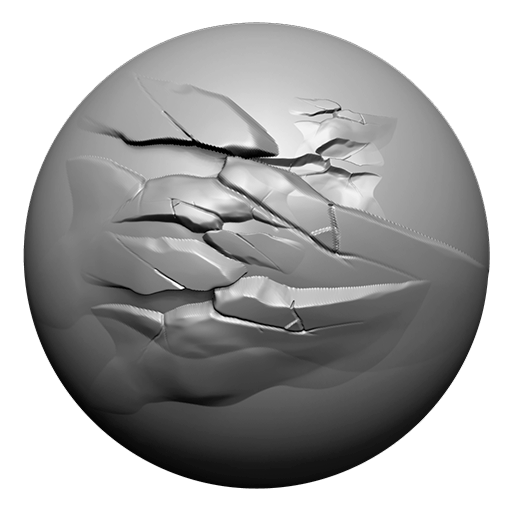 ZBrush Double Action Brushes - Simple Rocks PACK