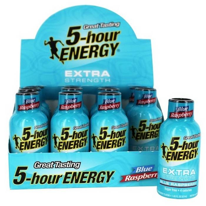 5-hour energy 1.93oz Ex-Strength Blue Raspbery Pack of 12
