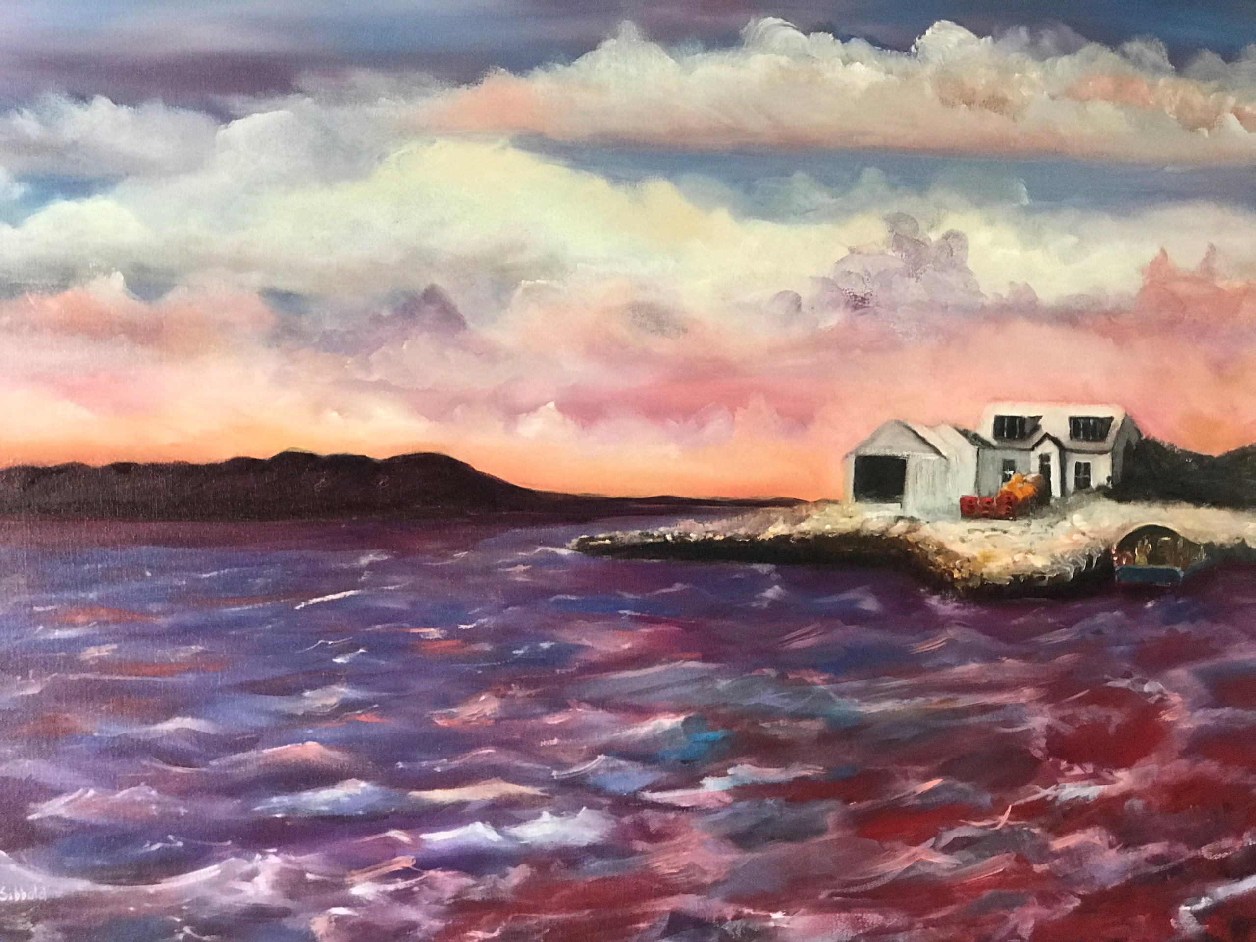 """Red Skye"" Oil on Canvas ​​a new Painting by Scott Sibbald"