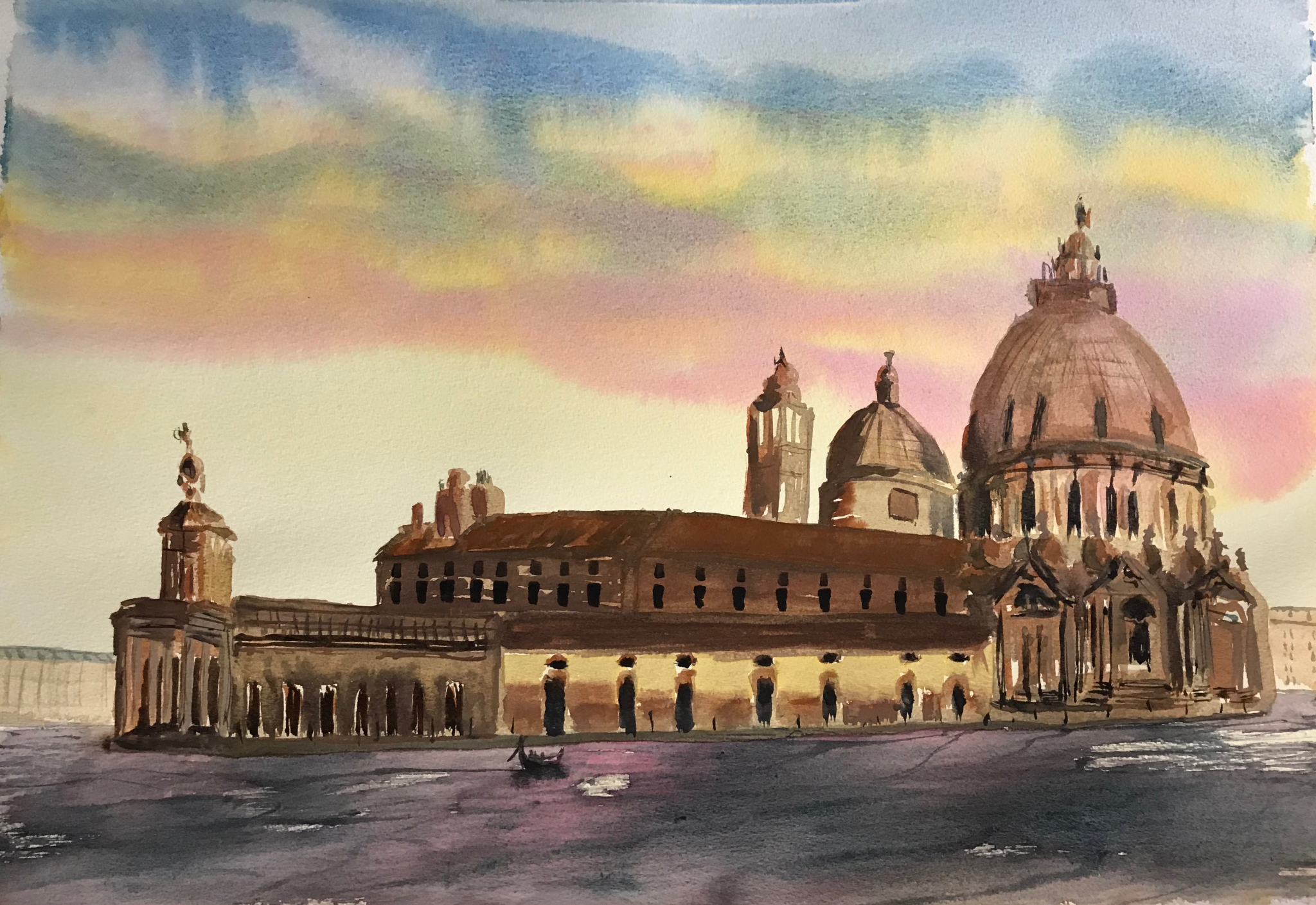 Original Watercolour Painting Venice in Autumn 30