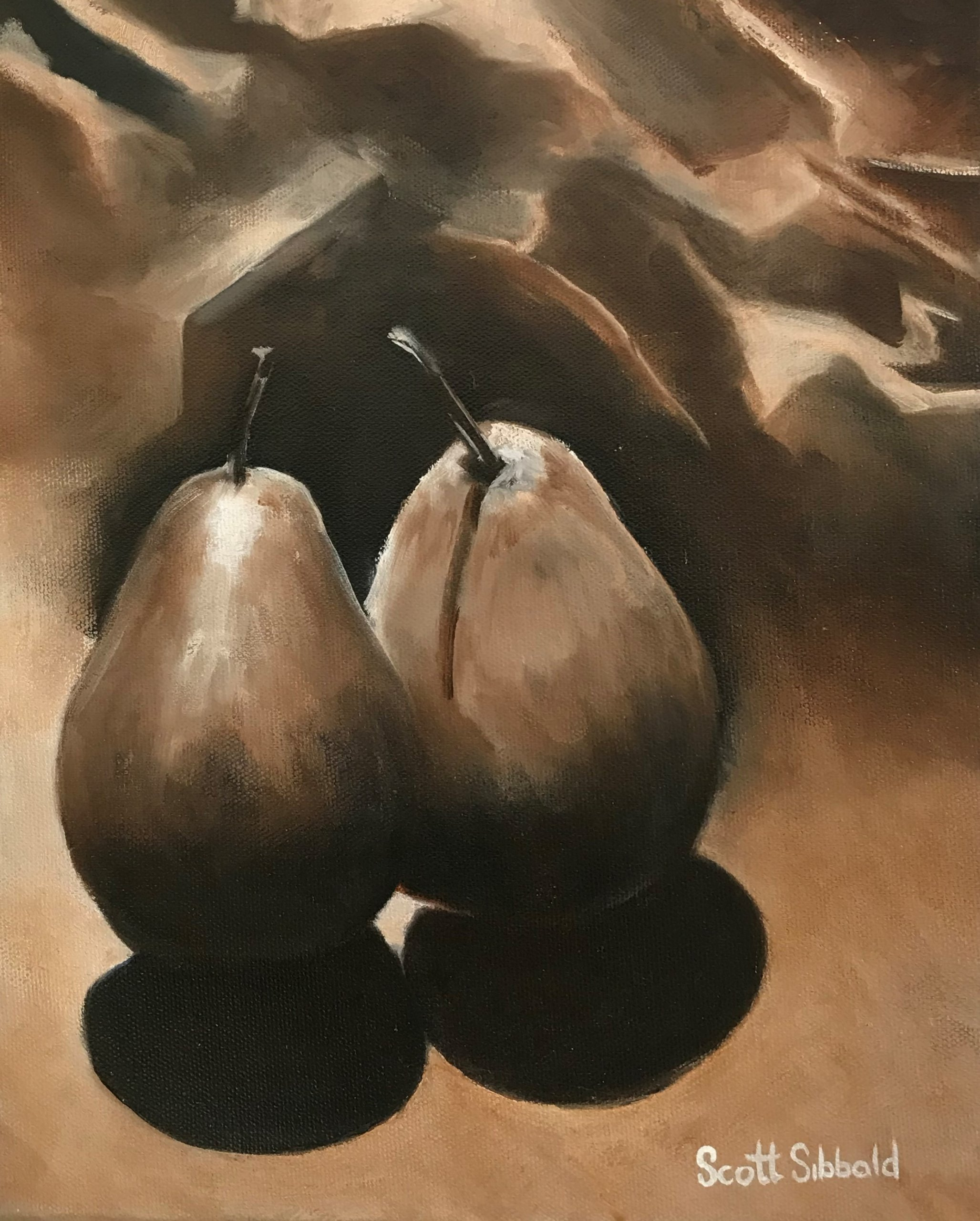 """Pears"" Oil on Canvas ​a new Painting by Scott Sibbald"