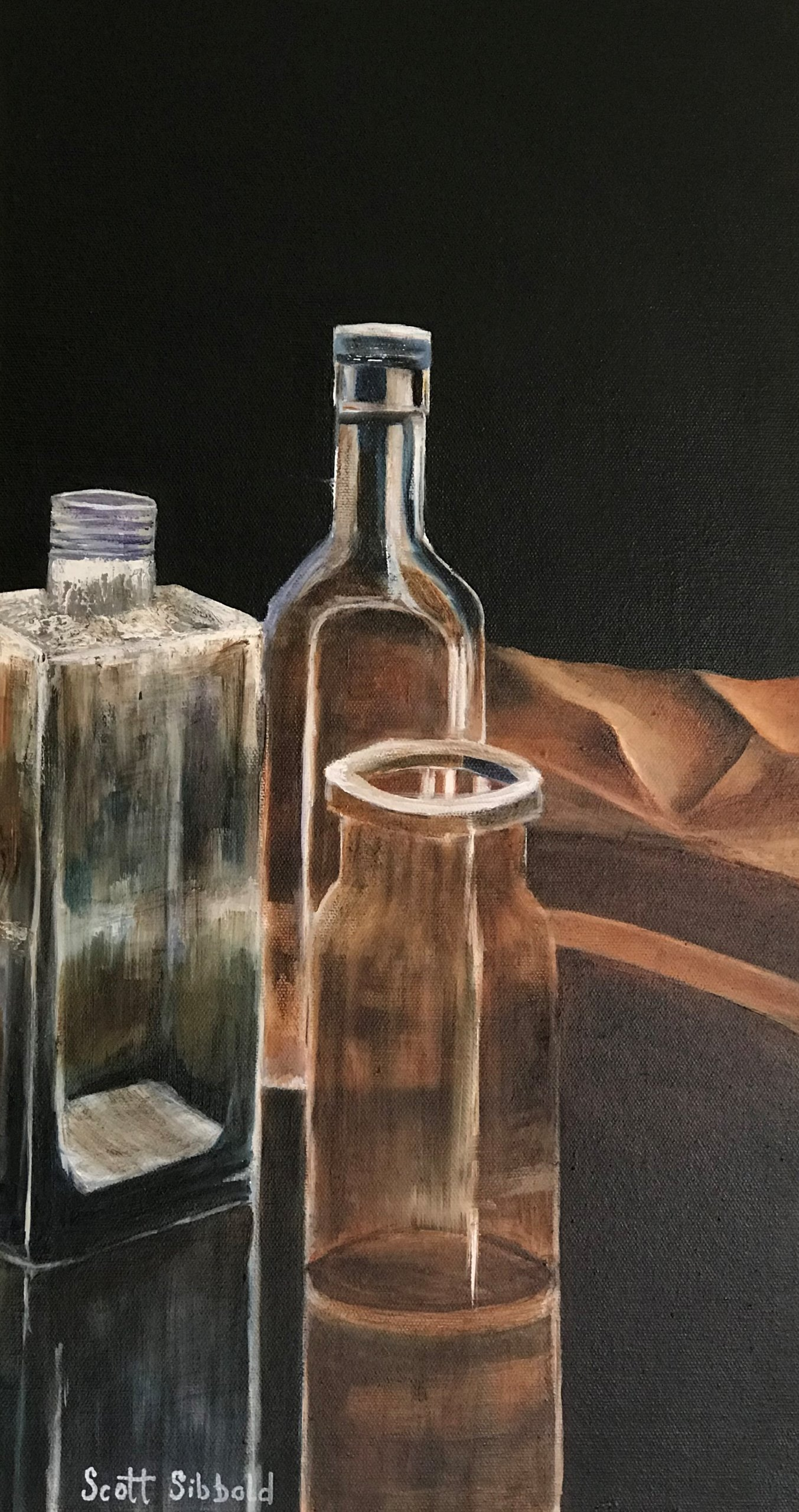 SallyAnn's Bottles Oil Painting on Canvas
