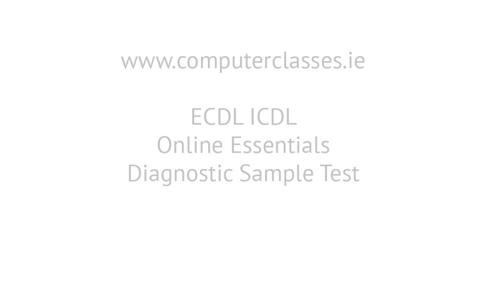 ECDL Online Essentials Diagnostic Exam